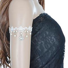 ファッションレースのインレイダイヤモンドの花の真珠のブレスレットエレガントなスタイル
