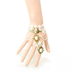 Vintage Sector Pearl Bracelet With Ring