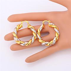 tanie Zestawy biżuterii-Damskie Pozłacane Biżuteria Ustaw Zawierać Náušnice Naszyjniki - Dwutonowy Powłoka platynowa Pozłacane Zestawy biżuterii Na Ślub Impreza