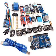 cheap -20 in 1 Sensor Module Kit and Improved Version UNO R3 ATMEGA328P Board Module for Arduino
