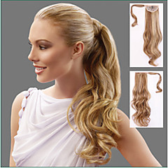 cheap Wigs & Hair Pieces-Clip In Ponytails Synthetic Hair Hair Piece Hair Extension Body Wave