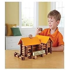 165個の小さな木製の創造建設