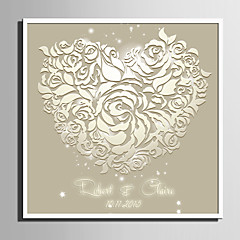 cheap Wedding Ceremony-E-HOME® Personalized Signature Canvas Frame- White Roses of Love (Includes Frame)