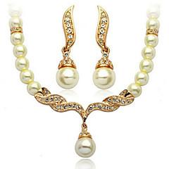 baratos Conjuntos de Bijuteria-Prata Conjunto de jóias - Asas de anjo Incluir Dourado / Prateado Para Casamento Festa Ocasião Especial