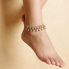 olcso -divat női strand jóga tánc csepp könnyűfém bojt dupla lánc bokalánc