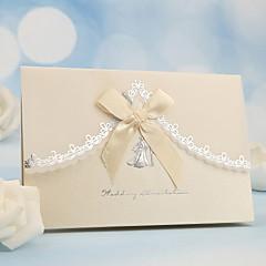 tanie Zaproszenia ślubne-Fold Side Zaproszenia ślubne 50 - Zaproszenia Perłowy papier