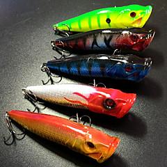 billiga Fiskbeten och flugor-5 pcs Hårt bete / Fiskbete Hårt bete / Popper Hårt Plast Sjöfiske / Kastfiske / Isfiske / Spinnfiske / Jiggfiske / Färskvatten Fiske / Abborr-fiske / Drag-fiske