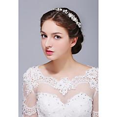 נשים כסף סטרלינג סגסוגת דמוי פנינה כיסוי ראש-חתונה אירוע מיוחד קז'ואל סרטי ראש חלק 1