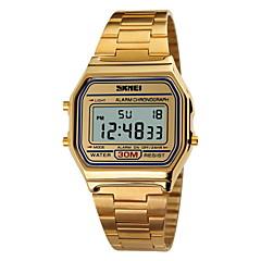 SKMEI® Men's Classic Fashion Square Digital Steel Sports Watch Chronograph / Alarm / Calendar / Water Resistant Cool Watch Unique Watch