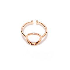 Kadın Evlilik Yüzükleri minimalist tarzı Moda Bakır Gümüş Kaplama Gül Rengi Altın Kaplama Mücevher Uyumluluk Düğün Parti Günlük