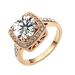 cheap Rings-Ring Women's Cubic Zirconia Alloy Alloy 6 / 7 / 8 / 9 Gold / Silver