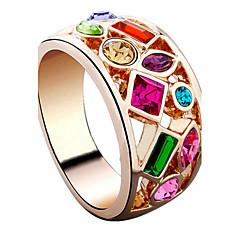 お買い得  指輪-指輪 - 1 円形 スタイリッシュ クラシック ゴールド リング 用途 結婚式 パーティー パーティー/フォーマル