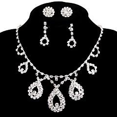 בגדי ריקוד נשים שרשרת ריינסטון סגסוגת עבודת יד תכשיטי יוקרה תכשיטים עבור חתונה Party ארוסים