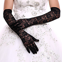 cheap Party Gloves-Lace Polyester Opera Length Glove Classical Bridal Gloves Party/ Evening Gloves With Solid