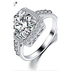 Maxi anel Zircão Zircônia Cubica Strass Liga Moda Prata Dourado Jóias Casamento Festa Diário Casual 1peça