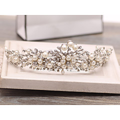 baratos -Crystal rhinestone liga tiaras cabeça clássica estilo feminino