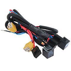 hesapli Otomotiv Anahtarları-/ 9003 h4 far güçlendirici kablo demeti konnektörü röle sigorta soketi