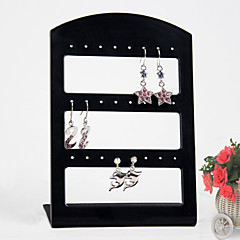 cheap Jewelry Boxes-Black Acrylic Earrings Jewelry Displays 24 Holds Elegant Style
