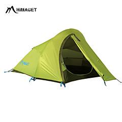 billige Telt og ly-HIMAGET 2 personer Telt Dobbelt camping Tent Ett Rom Hold Varm Fukt-sikker Velventilert Hurtighet Vanntett Fort Tørring Vindtett