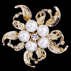 billige Motebrosjer-Dame Perle Sølv Gylden Smykker Bryllup Fest Daglig Avslappet Kostyme smykker