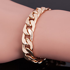 Men's 18k Golden Plated 10mm Width 8 Inches (21cm)Titanium Steel Chain Bracelet