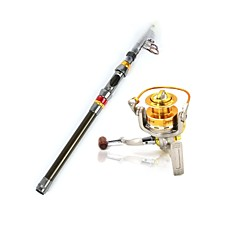 cheap Fishing Rods-Telespin Rod Hard Plastic Metal Nylon Carbon Stainless Steel / Iron 240 cm Sea Fishing Bait Casting Ice Fishing Spinning Jigging Fishing