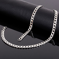 Men's Women's Chain Necklaces Titanium Steel Costume Jewelry Jewelry For Wedding Party Daily Casual