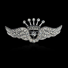 Men's Women's Elegant Fashion Luxury Gold Plated Imitation Diamond Alloy Crown Wings / Feather Jewelry For Wedding Party Casual