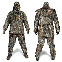 cheap Hunting & Nature-Hunting Jacket with Pants Waterproof Coat Suit Thermal / Warm Parka Shockproof Overcoat Men's Camouflage Winter Cotton Jacket Clothing Suits