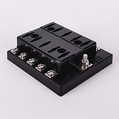 porta-fusível 10 maneira suporte de lâmina fusível carro circuito automóvel auto atc ato fusível iztoss dc 32v com fusível