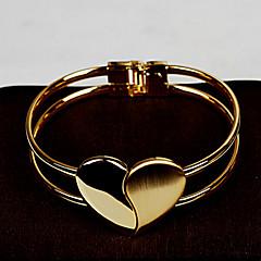 billige -Dame Guld / Legering Kæde / Runde Armbånd Armbånd Ikke-sten