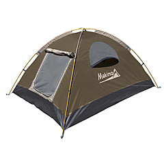 Makino 3-4 Persoons Tent Drievoudig Kampeer tent waterdicht Sneldrogend Ademend voor Wandelen Kamperen Voor buiten 2000-3000 mm Oxford CM
