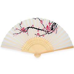 シルク ファンとパラソル-# ワンピース/セット 扇子 ガーデンテーマ アジア風テーマ フローラルテーマ ホワイト 38cmx21cmx1cm 長さ:21cm、幅:5cm