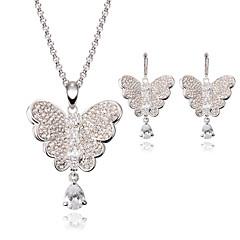 baratos Conjuntos de Bijuteria-Mulheres Cristal Conjunto de jóias - Borboleta, Animal Incluir Prata Para Casamento / Festa / Colares