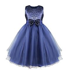 tanie Odzież dla dziewczynek-Brzdąc Dla dziewczynek Elegancka odzież Żakard Bez rękawów / Rozmiar rękawa S wynosi 61 cm (długość rękawa zwiększa się o 1 cm z każdym wyższymrozmiarem) Sukienka