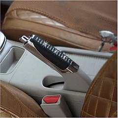 novos apertos de freio de mão do carro abs preto + strass tampa do travão de mão decoração
