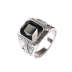 cheap Rings-Men's Retro Exaggerated style Multi-section Box Jewels Alloy Ring