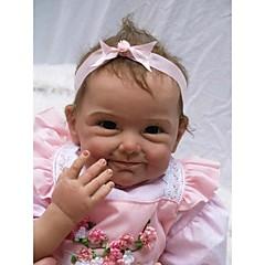 """hesapli Oyuncak Bebekler-22"""" Yeniden Doğan Bebek Doll Oyuncaklar Elyapımı Çocuk Kilidi canlı Non Toxic Yeni doğan Silikon Vinil Parçalar"""