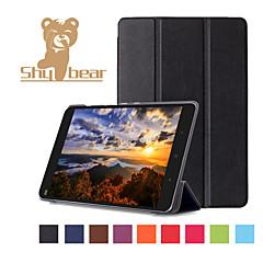 billige Nettbrettetuier-Etui Til Heldekkende etui Tablet Cases Helfarge Hard PU Leather til
