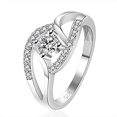 xu naisten 925 hopeoitu timantti rengas klassisen naisellinen tyyli