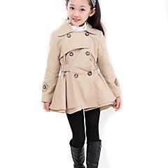 tanie Odzież dla dziewczynek-Dzieci Dla dziewczynek Jendolity kolor Długi rękaw Długi Trencz