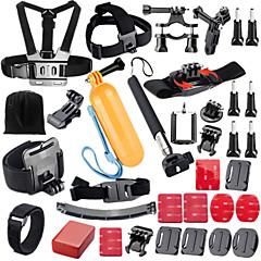 baratos Câmeras Esportivas & Acessórios GoPro-Suporte para Cabeça / Clipe / Boje Impermeável / Ajustável / Conveniência Para Câmara de Acção Todos / Gopro 5 / Xiaomi Camera Mergulho / Surfe / Esqui TPU / ABS - 37 pcs / Gopro 4 / Gopro 3