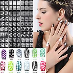 billige Negleklistremerker-20pcs 3D Negle Stickers Neglekunst Manikyr pedikyr Mote Daglig / 3D Nail Stickers