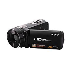 Videokamera 1080P Anti-Sjokk Smil Deteksjon Berøringsskjerm Svart