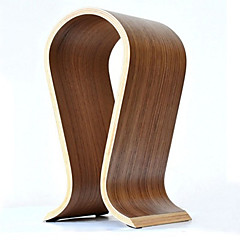 cheap Headphones Accessories-Hot Sale Fashionable Wooden U-Shaped Headphone Display Stand Headphones Holder