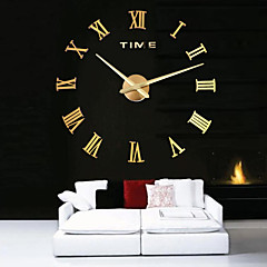 cheap Wall Clocks-Wall Clock,Modern Contemporary Stainless Steel Acrylic Metal Round Indoor / Outdoor