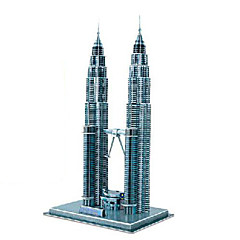 puzzle-uri Puzzle 3D Blocuri de pereti DIY Jucarii clădiri celebre Hârtie Maro Jucărie de Construit & Model