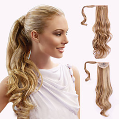cheap Hair Pieces-top grade quality synthetic wavy ponytail