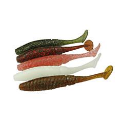 """12 kpl Uistin Pehmeä syötti Värivailkoima g/Unssi,100 mm/4"""" tuuma,Pehmeä muoviVirvelöinti Makean veden kalastus Ahvenen kalastus"""