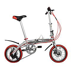 14 אינץ 'dequilon שישה בלמי דיסק קיפול ציוד אופני אופני שוק כסף